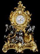 """Kamin PenDule Höhe: 80 cm. Breite: 56 cm. Tiefe: 26 cm. Signiert """"Balthazard"""". Frankreich, 19."""