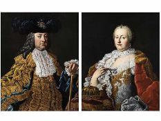 """Martin van Meytens, 1695 Stockholm """""""" 1770 Wien, Nachfolge Gemäldepaar FRANZ I VON LOTHRINGEN ("""