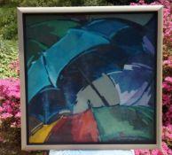 Stanley Suresh - UmbrellaAcryl auf Holztafel gerahmt - 1990