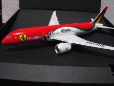 "Phoenix 1/200 Alitalia ""Ferrari librea"" Boeing 787 ""Very Rare"" Reg # i-Fer 787 1:200 Model"