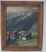 Ölgemälde Die Alpen - signiert F.Katthei 1945