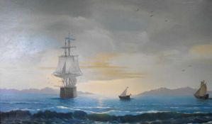 Marinemalerei, Ölgemälde, St.Petersburger Schule, signiert