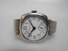 Longines Automatic Cushion Mens Vintage Wrist Watch - circa 1930s