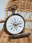 antike 800 Silber Taschenuhr wohl Gebr. Eppner in edler Holzschachtel