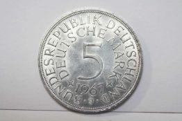 5 DM Silberadler 1967 J Bundesrepublik Deutschland