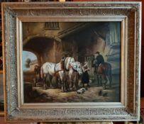 Niederländischer Meister 2. Hälfte 19. Jahrhundert, PFERDEFUHRWERK