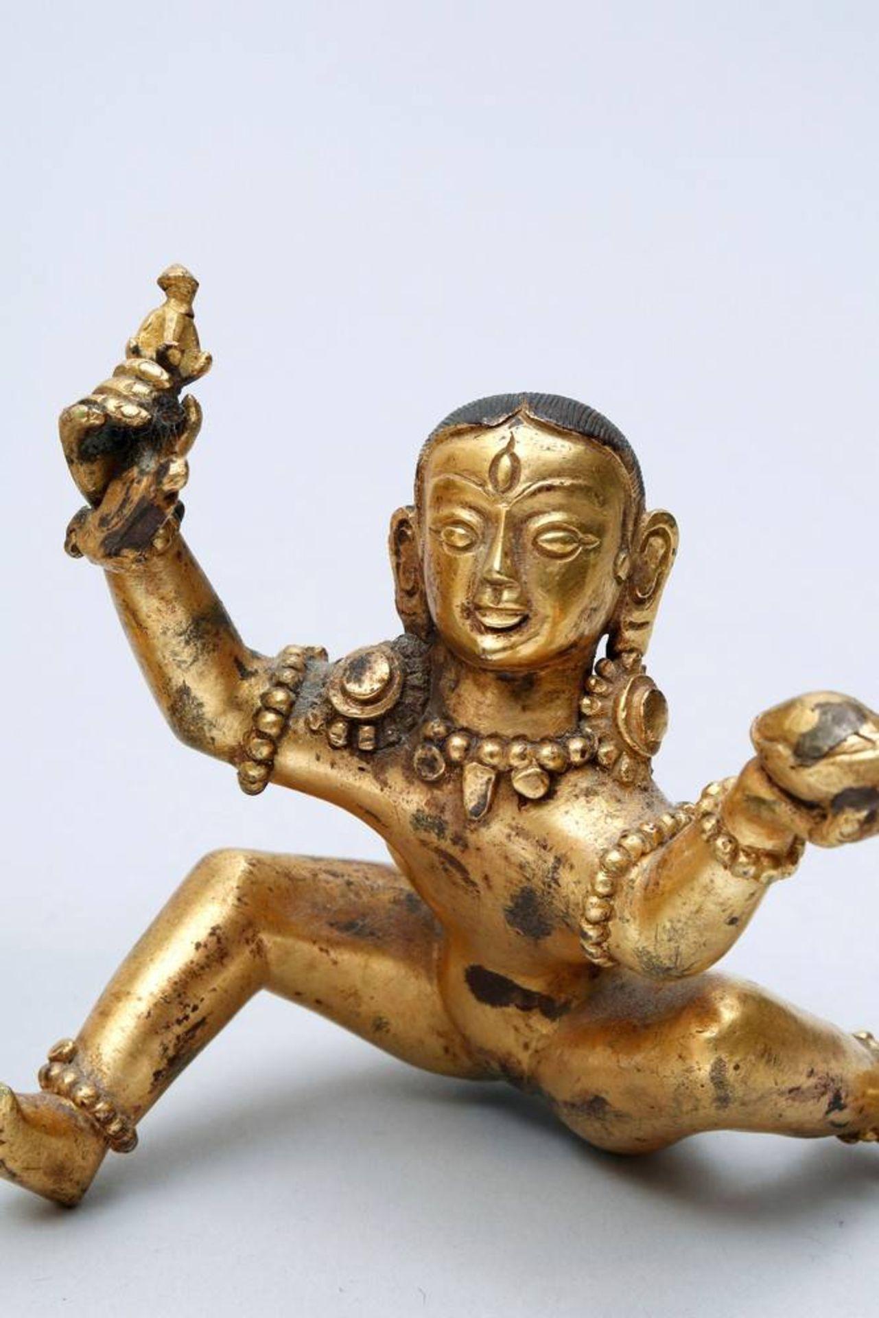 Buddhistische Gottheit Nepal/Tibet, 18./19.Jh., wohl Yama Dharmaraja mit Chamundi, in sitzender - Bild 7 aus 10