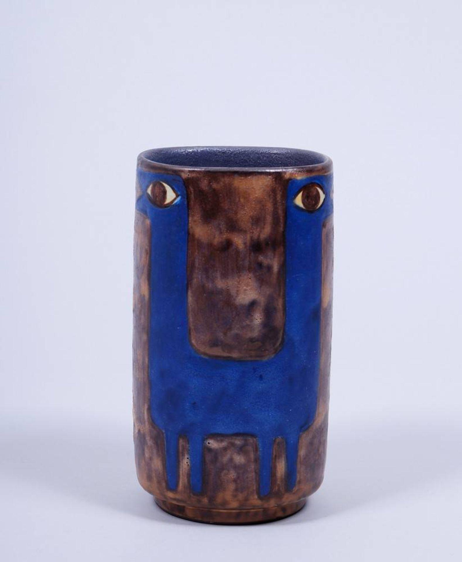 Vase, Entwurf Eva Fritz-Lindner (1933-2017) für Staatliche Majolika Manufaktur Karlsruhe, um 1970 - Bild 2 aus 3