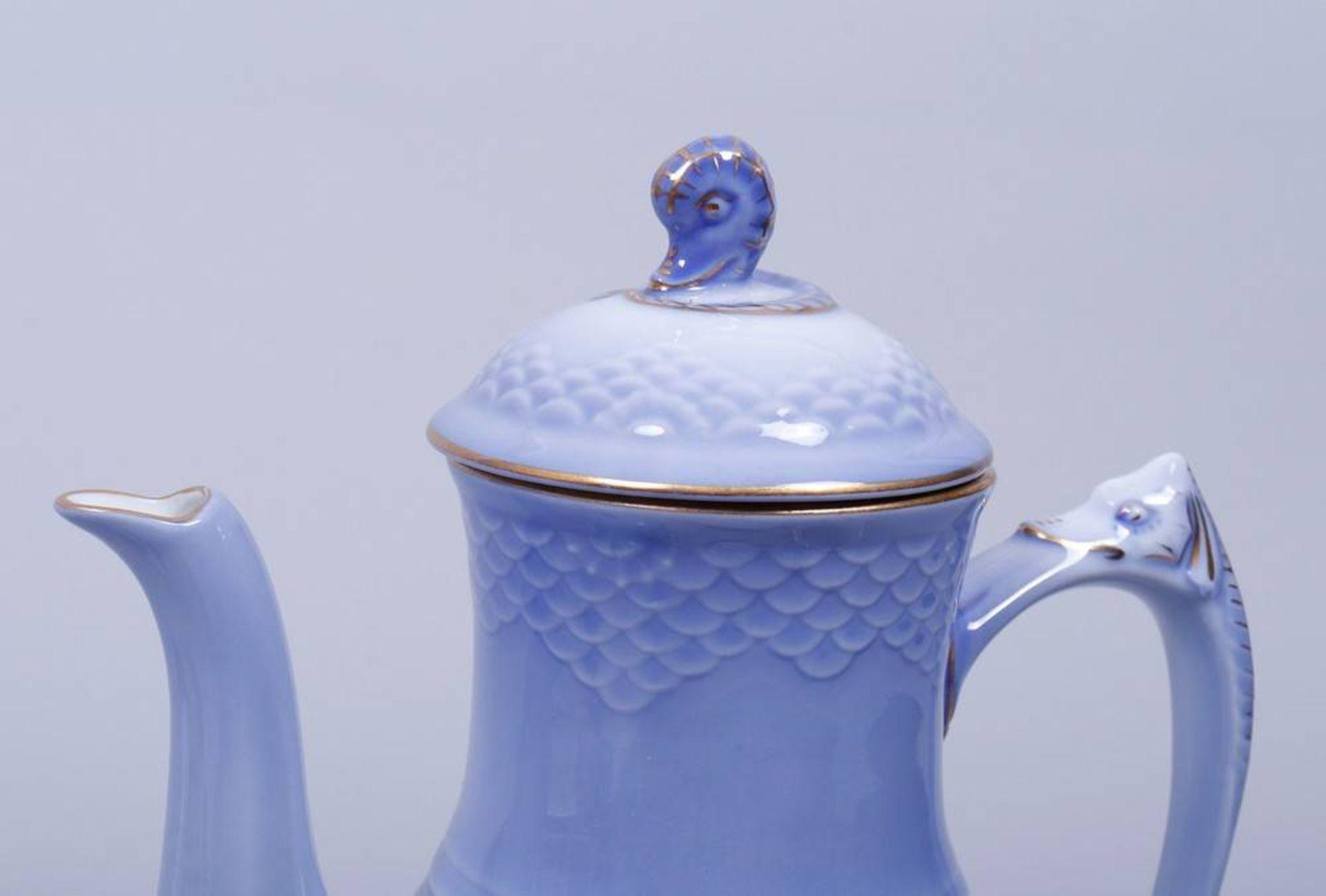 """Kaffeeservice für 6 Personen, Entwurf Fanny Garde für Bing & Gröndahl, Dekor """"Möwe (Seagull)"""", 20. - Bild 3 aus 6"""