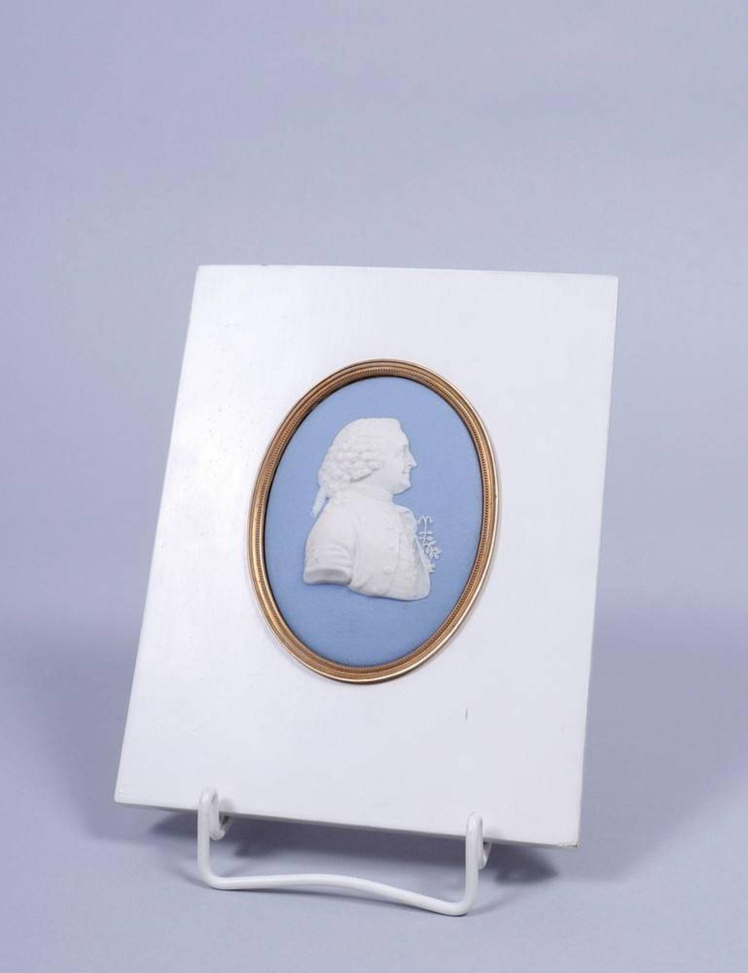 Portrait-Medaillon von Carl von Linné (1707, Råshult - 1778, Uppsala), Wedgwood, um 1800 sog.