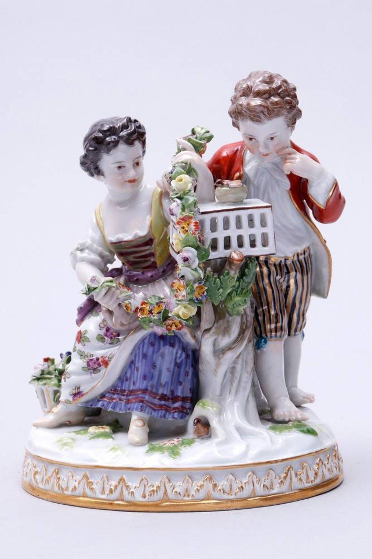 Der Frühling, Meissen, um 1900 Entwurf Johann Carl Schönheit, aus dem Zyklus der Jahreszeiten, an