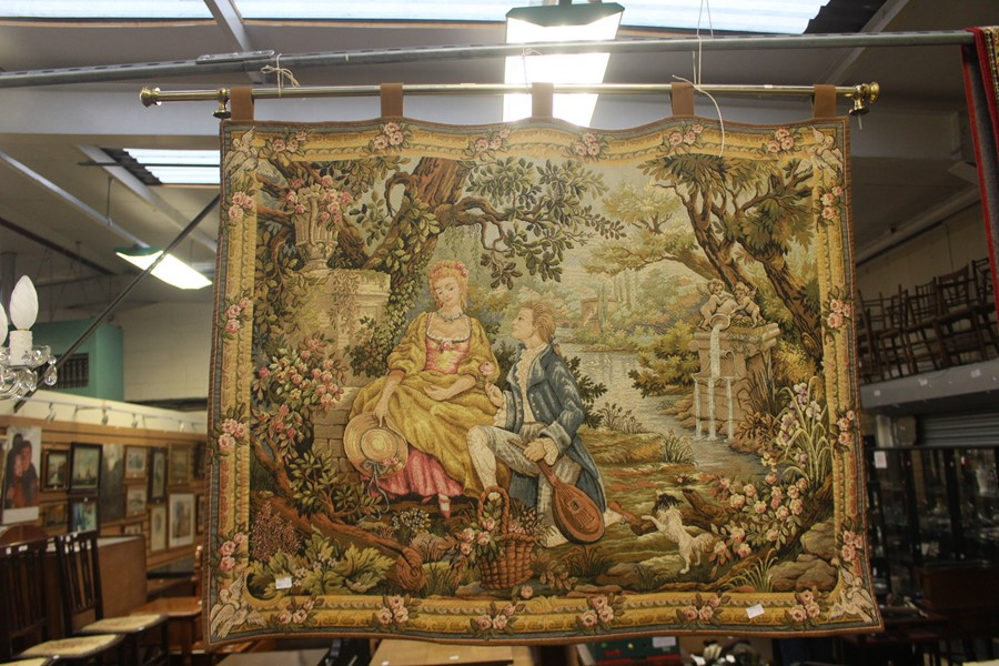 Lot 2191 - Late 20th century wall tapestry with pole