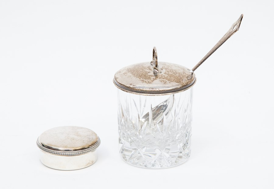 Lot 50 - A silver gilt lined pill box, round form with gadrooned border, London 1810, maker Thomas Phipps &