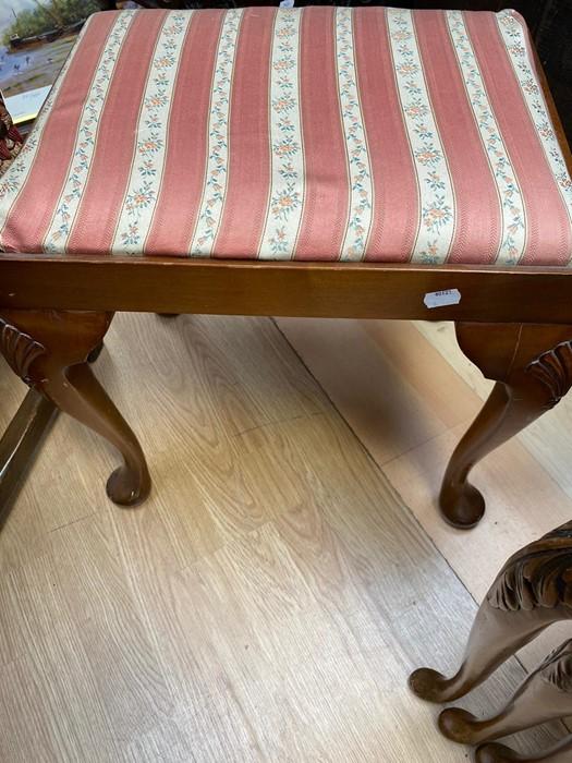 Lot 4210 - A 19th Century style mahogany stool.
