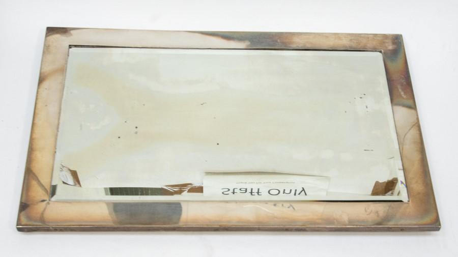 Lot 41 - A large George V silver framed mirror, original easel back, London 1911, approx 56cm x 35.5cm