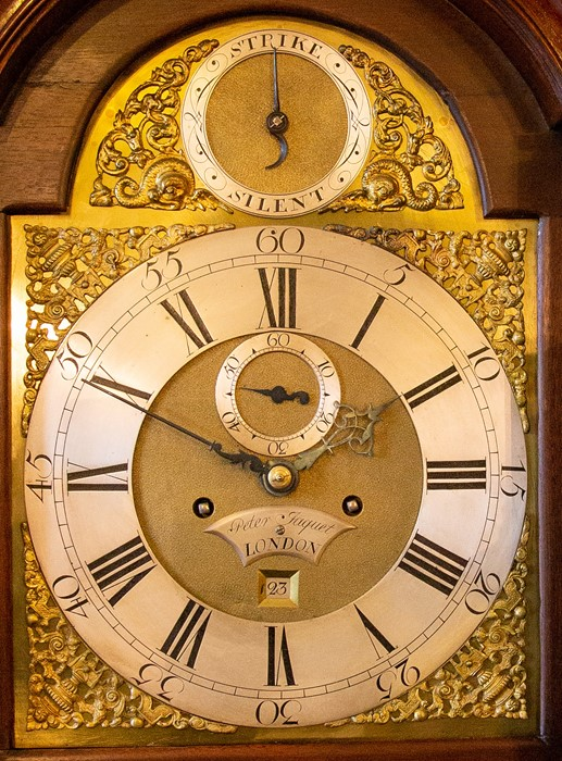 Lot 3004 - Peter Jacquet, London, a George III mahogany eight day longcase clock, circa 1770, pagoda pediment
