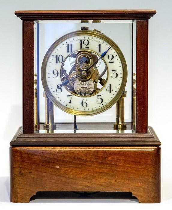 Lot 3011 - An early 20th Century Century Eureka electro-magnetic bracket clock, glazed case, Arabic numeral