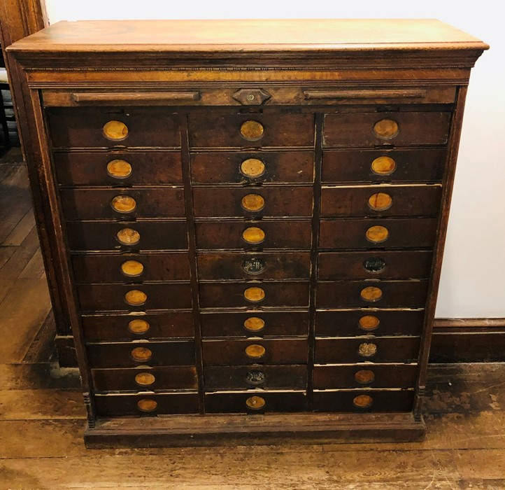 Lot 3030 - An early 20th Century American oak Amberg's Imperial office letter filing cabinet, rectangular