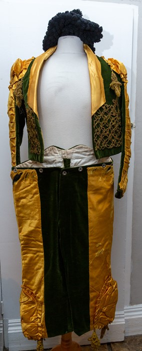 Lot 3330 - An early to mid 1930's troubadour fancy dress outfit, could be partly genuine from Spain, this