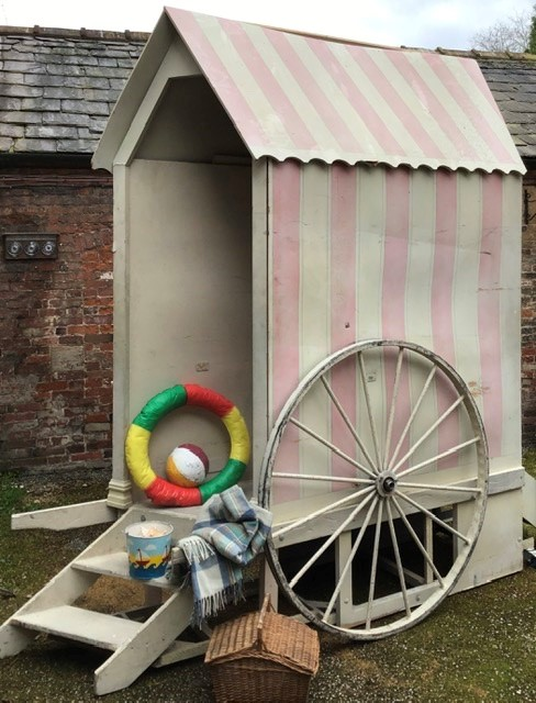 Lot 22 - Beach Hut with picnic basket, blanket, bucket, rubber ring, ball.