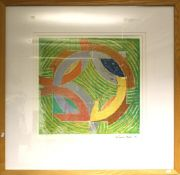 After Frank Stella (American b.1936 ) A reproduction print of a working proof, Ronnie Peterson IV. S