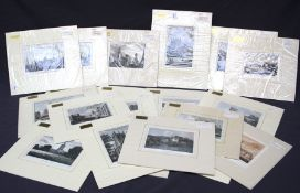 A collection of twenty one late 18th/early 19th century hand coloured engraved book plates depicting