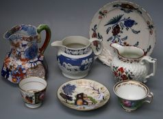 A collection of 19th century English ceramics including Coalport, Masons ironstone, Ridgeway, Worces