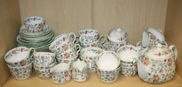 "A collection of Minton ""Haddon Hall"" bone china teawares"