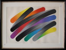 Takeshi Hara ( Japanese b. 1942) Strokes 87-2. A coloured lithograph. Pencil signed, titled and numb