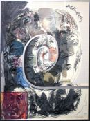 Feliks Topolski (Polish 1907-1989) Autobiography. Screen print on paper. 99 x 73.5cm. Signed and num