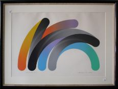 Takeshi Hara (Japanese b. 1942) Strokes 82-11. A coloured lithograph. Pencil signed, titled and numb