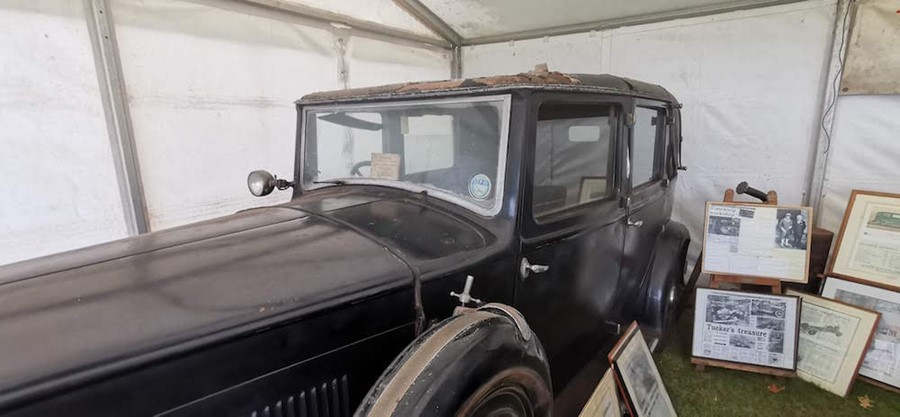 Lot 2 - The Edward & Mrs Simpson Snipe.1933:JJ 3460. The car is complete, but the engine is currently