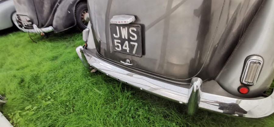 Lot 9 - JWS 547: 1952 HUMBER MKIII Super Snipe. THIS IS NOW A CLOSED AUCTION RUNNING AT 12 NOON ON WEDS