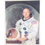 Neil Armstrong (1930-2012), American astronaut, the first person to walk on the moon. Autograph in