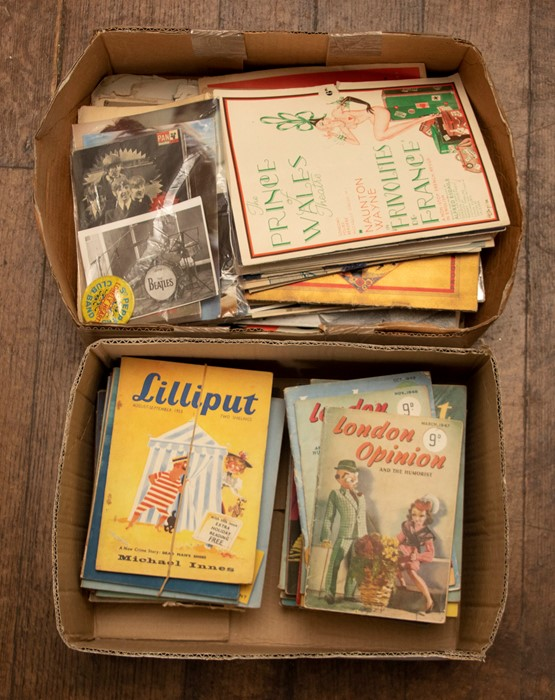 Collection of theatre programmes, 1930s to 1960s, to include 'London's Folies Bergere', Beyond the