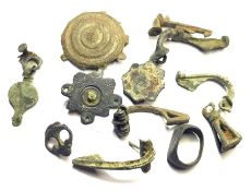 Group Metal Detecting Finds.  Circa 1st-5th century AD. Copper-alloy, 18.80-46.76 mm. A good group