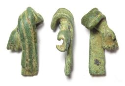 Roman Statuette Arm.  Circa 1st-4th century AD. Copper-alloy, 25.41 grams. 44.67 mm. A bronze arm