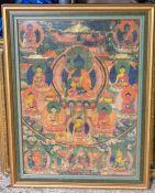 ****** ITEM LOCATION BISHTON HALL********** An early 19th Century Tibetan thangka 68cm H x 51cm