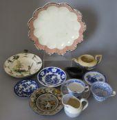 ****** ITEM LOCATION BISHTON HALL********** A collection of nineteenth century ceramics, c. 1820-60.
