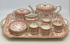 A collection of Royal Crown Derby Osmaston Road site, early examples to include Osborne tea set on