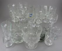 A set of 8 101st US Open Southern Hills lead glass tumblers bearing commemorative inscription and