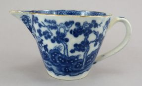 A Late eighteenth century blue and white transfer-printed Swansea Cambrian jug, c.1795. It is