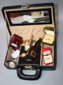 A lady's 'Oris' wristwatch, three other watches and a quantity of costume and other jewellery in