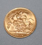 A George V half sovereign dated 1914