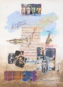 James Hussey (British, 20th Century), jazz music compositions, signed, mixed media, 75 by 53cm,