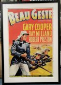 Beau Geste, original US theatrical poster, published by Morgan Litho. Corp., Copyright Paramount