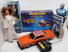 **REOFFER NOV AC 20-50** Superheroes includes Dukes of Hazzard remote control car, Chitty collectors