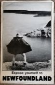 **AWAY COLLECTED**Travel , Tourism, Poster,  Advertising Interest. 'Expose Yourself To Newfoundland'