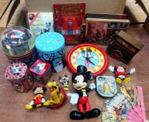 Disney interest. Assorted including Cinderella Kitchen, Mickey Mouse Clock, Pluto Hook, plus