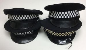 Police interest. 4 x  UK police officer hats (4)